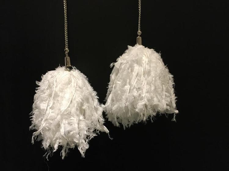 Borlas decorativas cortinas, ventanas, puertas de pluma seda