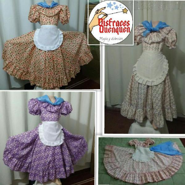 Vestido de paisana falda campana