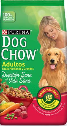 Alimento perros adultos dog chow razas grancde/mediana y