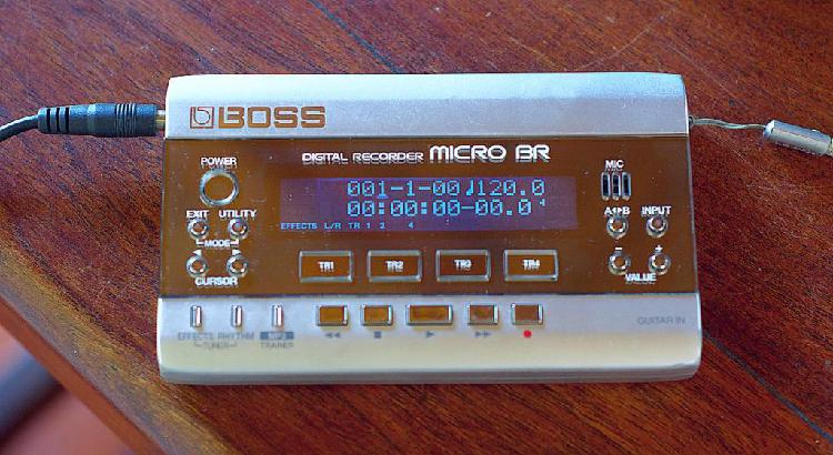 Boss micro br mini estudio de grabación excelente con trafo