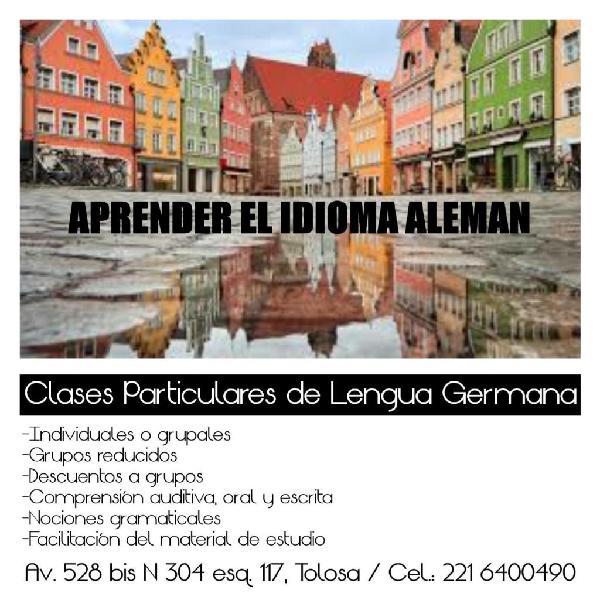 Clases particulares de lengua germana