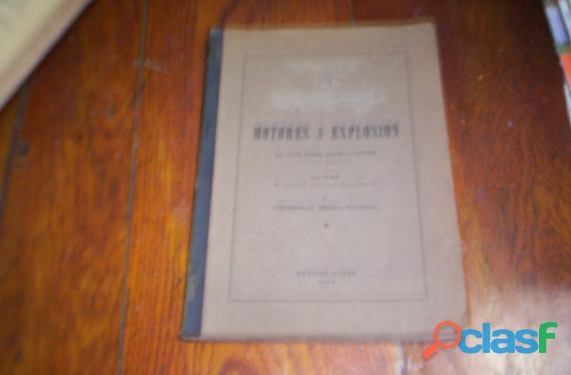 Manual motores a explosion año 1949 perfecto