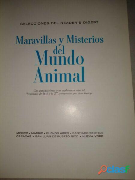 Libro maravillas y misterios del mundo animal
