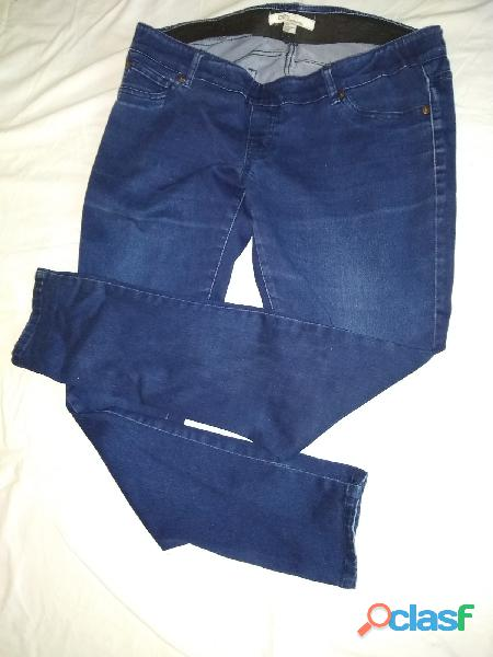 Pantalon love21 maternity l/g jean azul elastizado perfecto