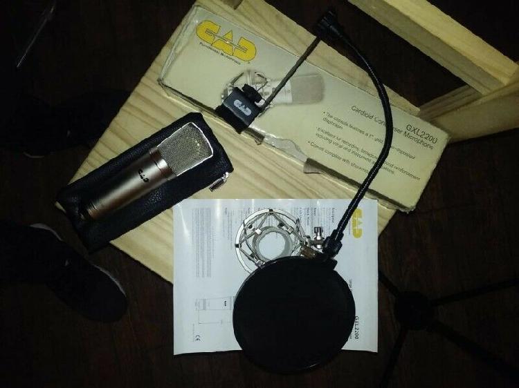 Microfono Condenser P/ Grabacion Estudio C/ Araña Y Antipop