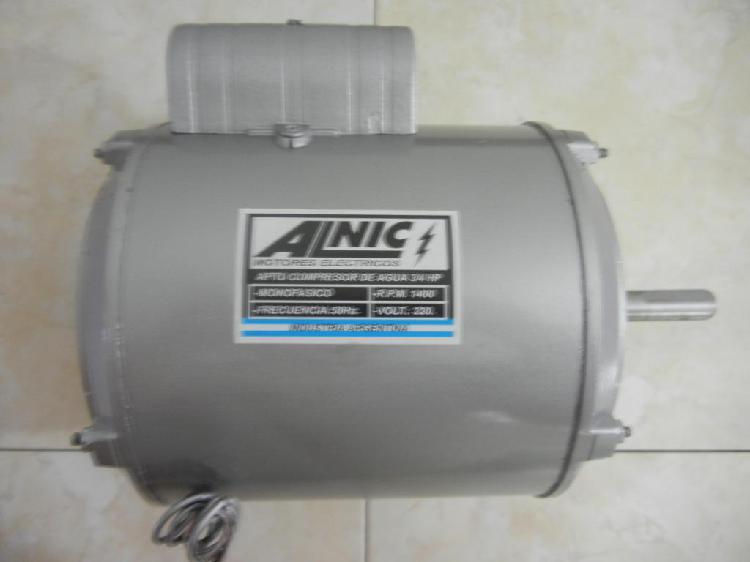 Motor para bombeador/hormigonera 3/4 hp nacional alnic