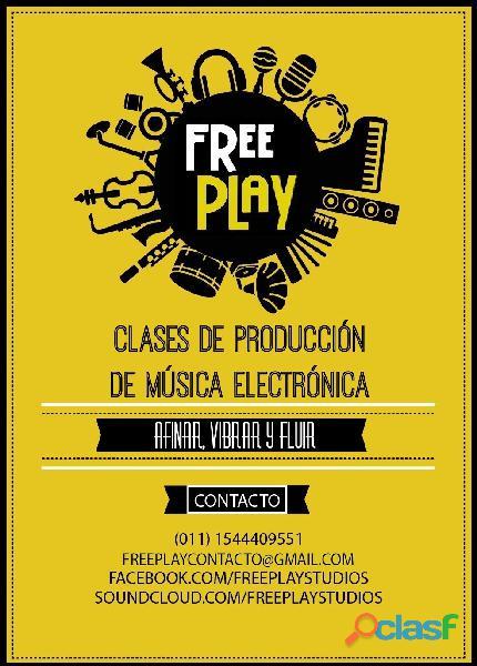 Clases particulares de produccion de musica electronica en sanez peña.