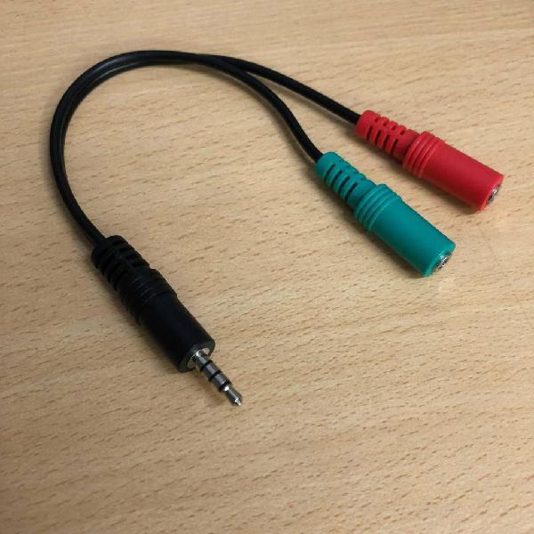 Cable ps4 adaptador plug 3,5 a auriculares y microfono