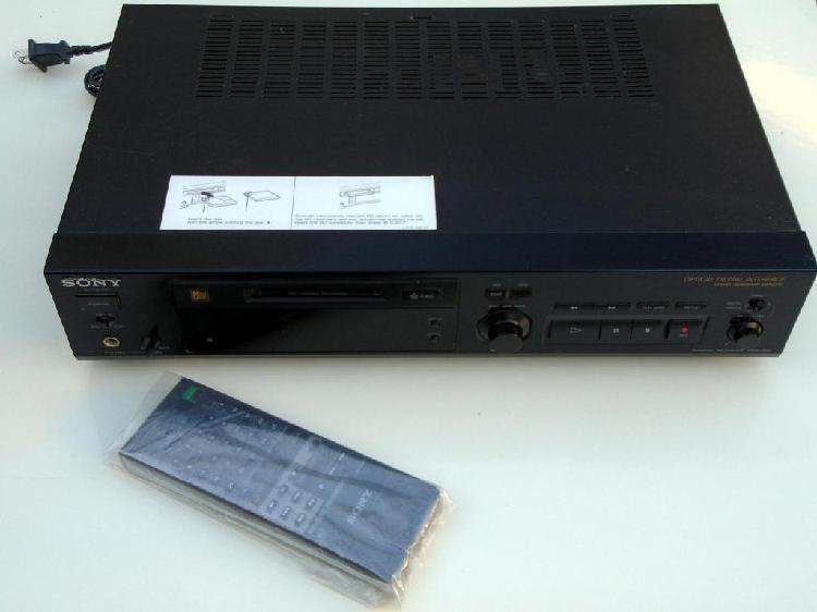 Grabador reproductor de minidisc sony minidisc recorder mds