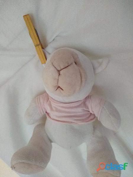 Osito Sonajero Peluche Chaleco Rosa 25cm.perfecto