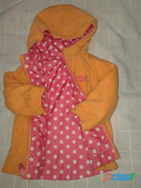 Campera oshkosh capucha 2 en 1 impermeable abrigo perfecta