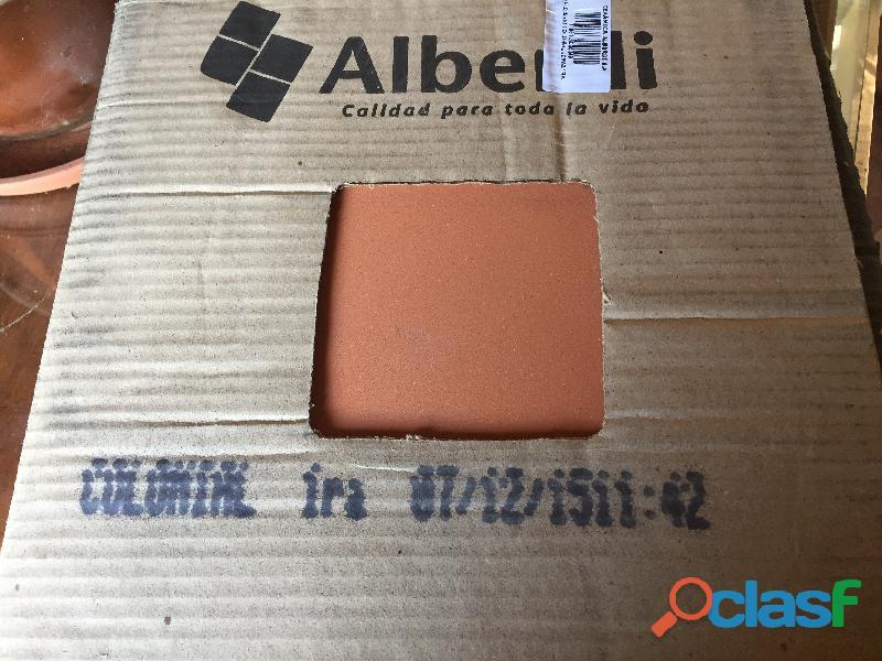 Ceramicas para piso colonial de 1° calidad 34x34 marca alberdi, de barugel azuley