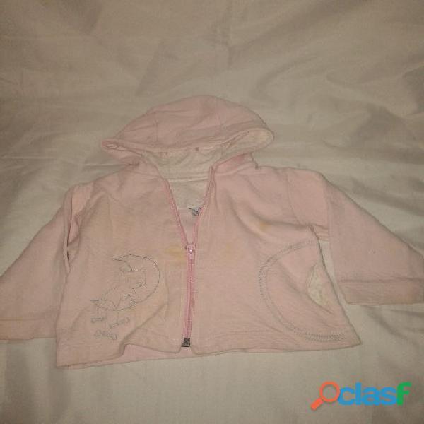 Campera capucha cierre t2 sabby baby bordado luna poco uso