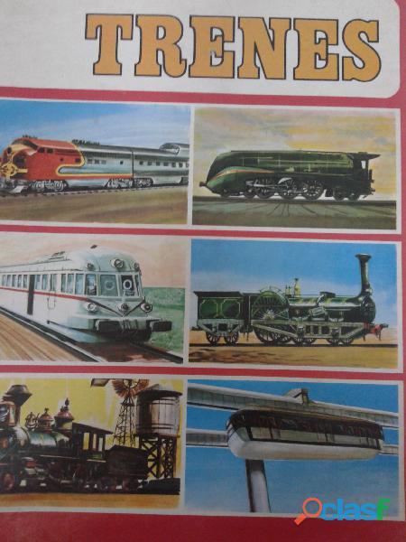 Album de trenes cromos ediciones susaeta completo retro