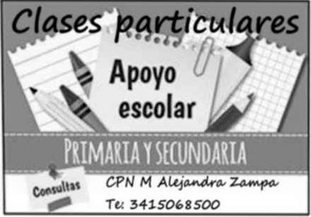 Clases particulares primaria y secundaria individuales y