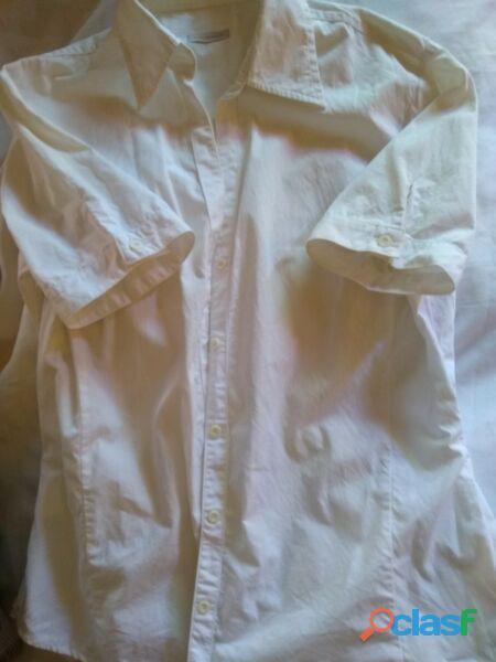 Camisa yagmour  t m poplin blanco manga corta use 1 vez