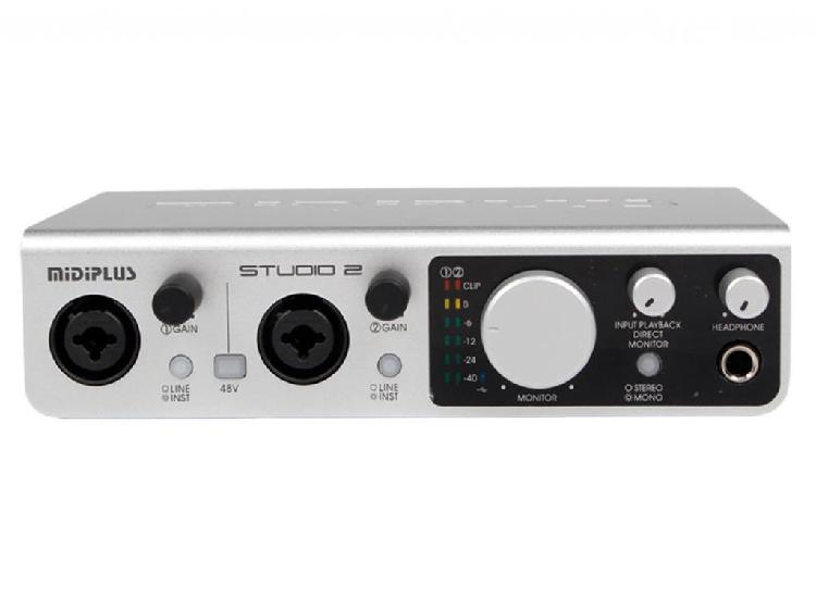 Placa externa de audio profesional midiplus studio 2 24 bit