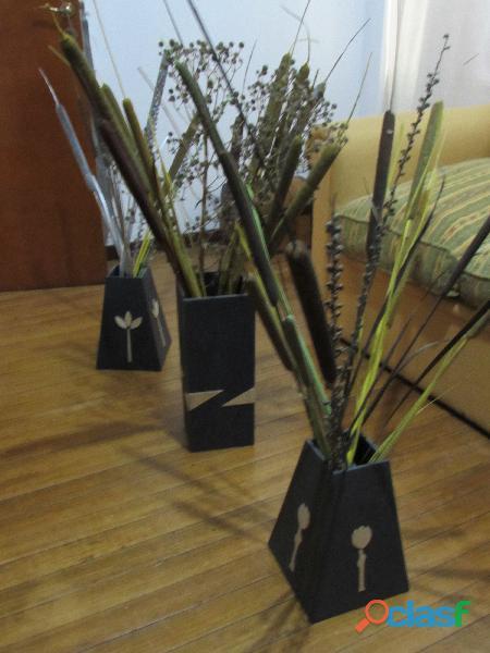 Decoración arte .ofertón!!!!!todo floreros y flores silvestres
