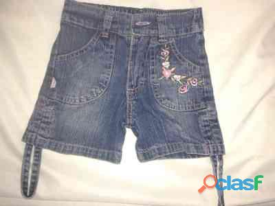 Short jean jobel t1 nena de 18meses bolsillos frente bordado perfecto