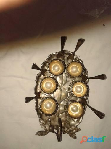 Fuente huevera compuesta,6 copitas y 6 cucharitas peso 675g