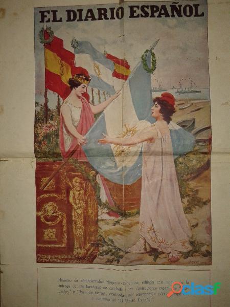 Poster el diario español año 1928 ¡unico