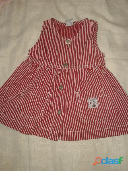 Vestido cheeky chemise tallem rayas rojoblanco sin manga perfect
