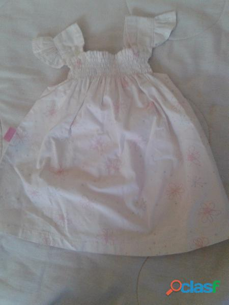 Vestido solero mbo blanco flores pecho 12cm largo33