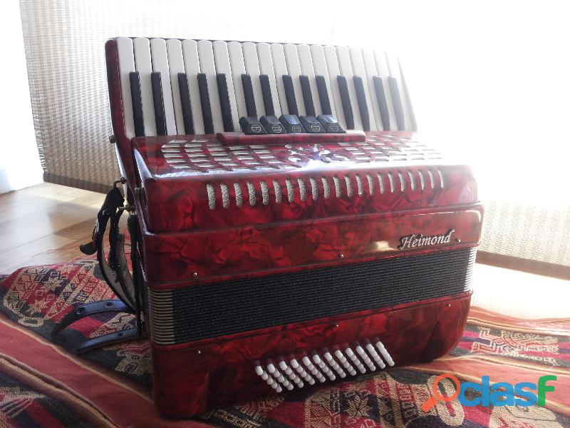 Acordeón a piano heimond 60 bajos
