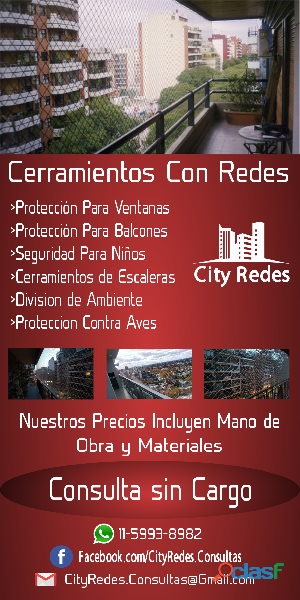 Redes para balcones en tortuguitas city redes