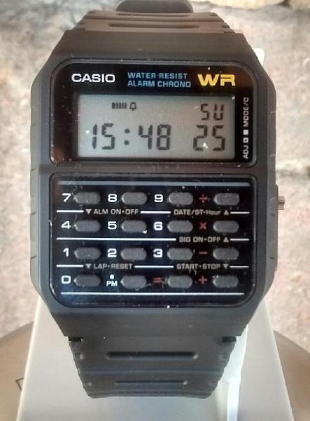 918e95f06437 Reloj calculadora casio ca53w retro años 80