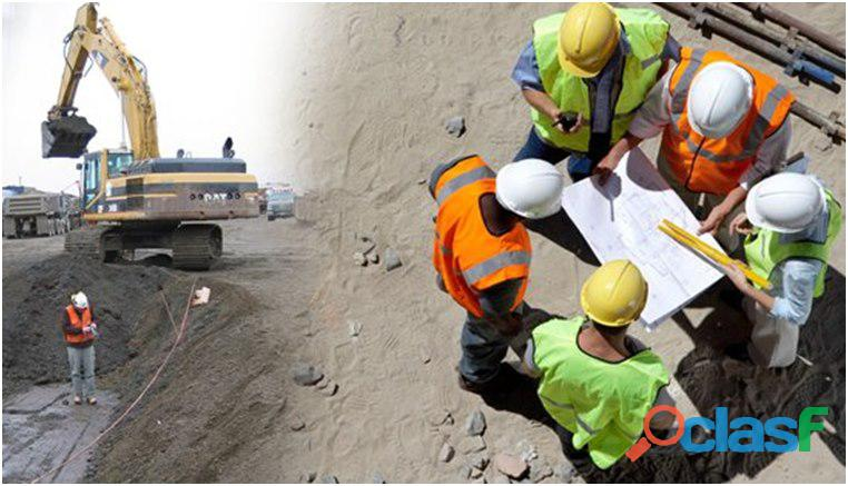 Ingenieros civiles, agrimensores, arquitectos e ingenieros mecánicos necesarios.