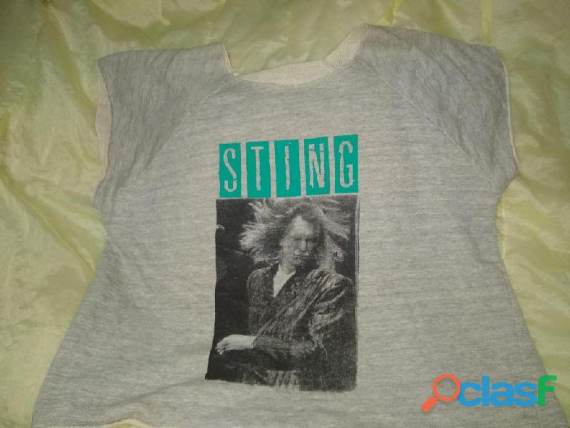 Remera sting the police rock sting gris t xxl ancho 120