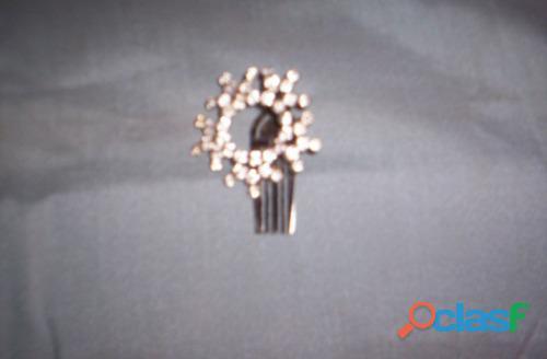 Prendedor hebilla circular con strases 4.5cm perfecto