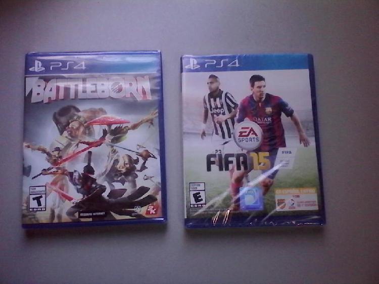 Ps4 2 juegos nuevos sellados originales fifa15 y battleborn
