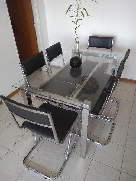Mesa de vidrio 6 sillas