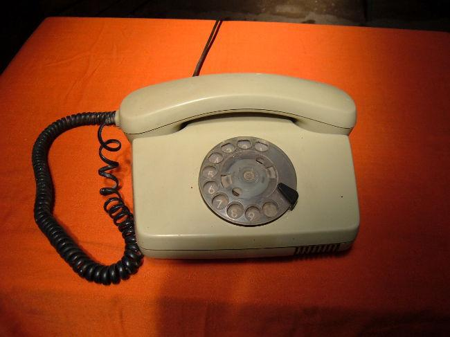 Antiguo teléfono a disco siemens año 1970