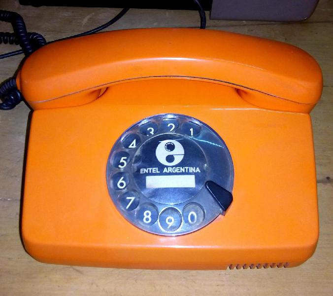 Antiguo telefono entel siemens naranja