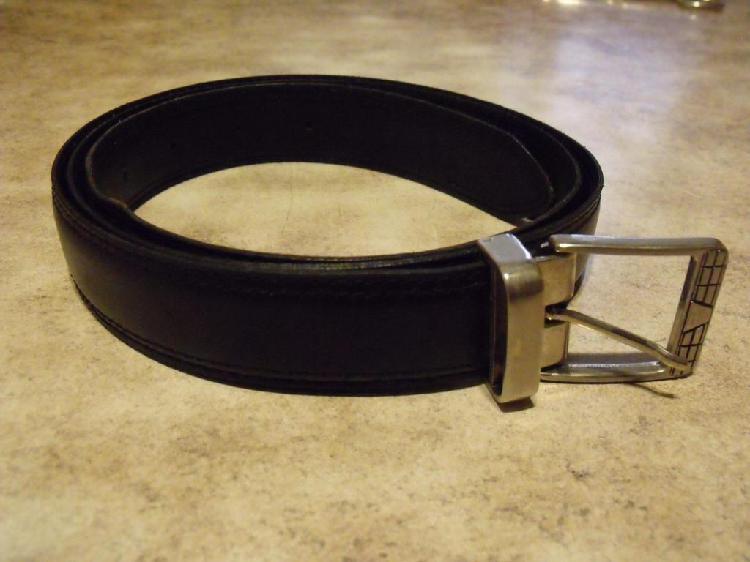Cinturón negro de cuero de vaca hombre