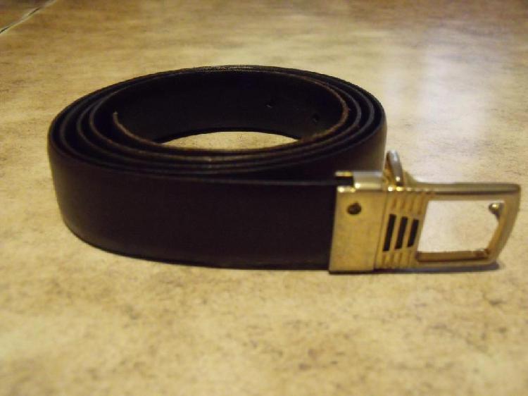 Cinturón reversible negromarrón de cuero de vaca hombre