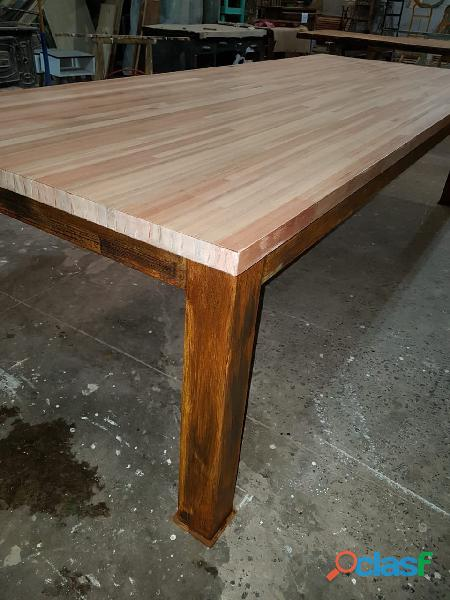 Mesa para exterior hierro madera 120 x 3