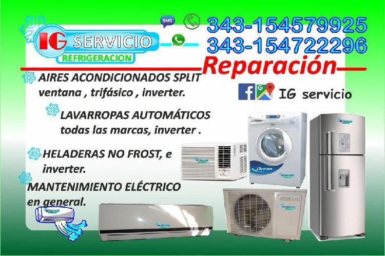 Aires acondicionados, lavarropas automaticos, heladeras,