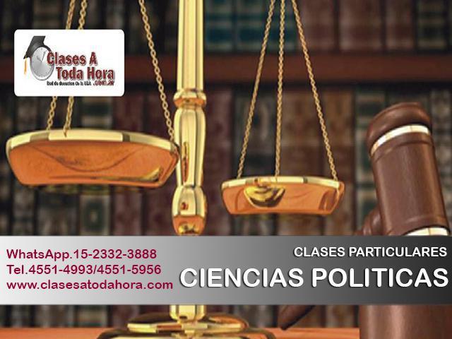Clases de sociología y ciencias políticas para nivel cbc y