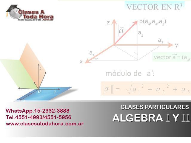 Clases particulares de algebra i y ii para alumnos de