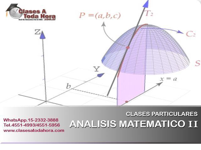 Clases particulares de analisis ii y iii para alumnos de