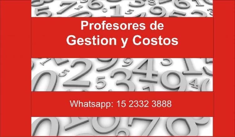 Clases particulares de costos o gestion y costos –