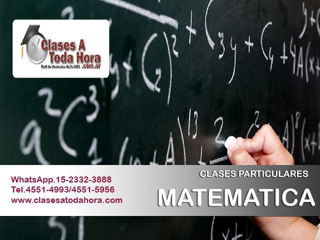 Clases particulares de matemática ii para arquitectura –