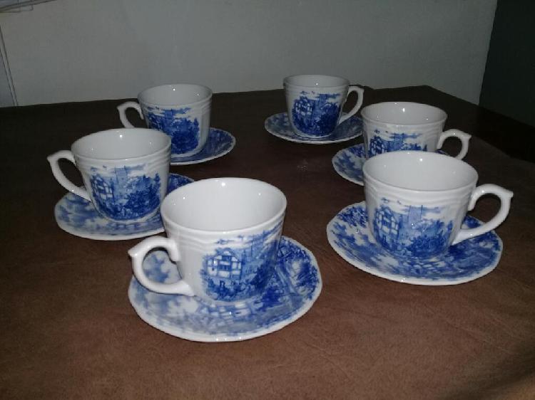 Juego set tazas y plato vajilla ceramica