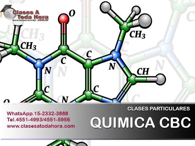 Necesitas clases de apoyo para quimica cbc?