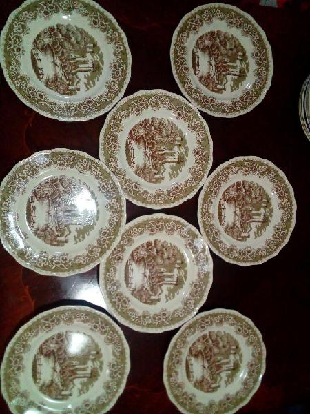 Vajilla antigua lozadur platos playos
