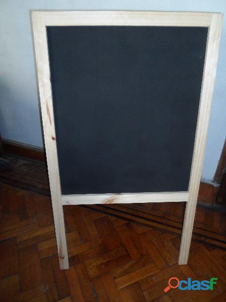 Pizarron/pizarra publicidad doble faz negro